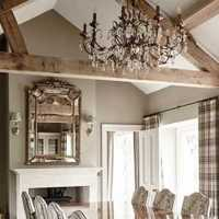 书柜家庭吧台实木家具吊灯装修效果图