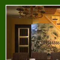 餐厅纯色壁纸装修效果图