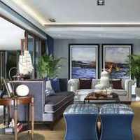 休闲美式别墅客厅吊顶装修效果图