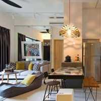 現代兩居室客廳效果圖