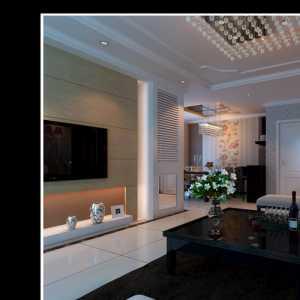 客厅背景墙拼镜装修效果图