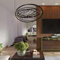 灯具餐桌客厅装修效果图