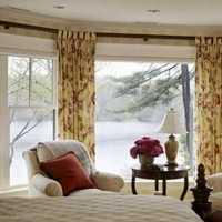 新中式卧室别墅窗帘装修效果图