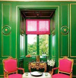 墨绿色装修效果图门窗