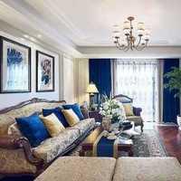美式家具電視柜客廳茶幾裝修效果圖