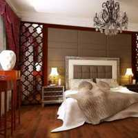 卧室头背景墙美式双人装修效果图