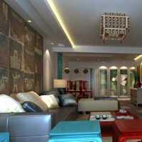 现代复式客厅电视机背景墙装修效果图