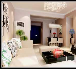 白墙白砖客厅中式