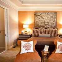 卧室背景墙卧室吊灯美式装修效果图