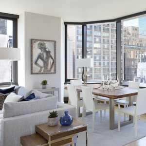 纽约开放布局传统精致一居室公寓