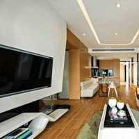 现代时尚客厅墙面蓝色装修效果图
