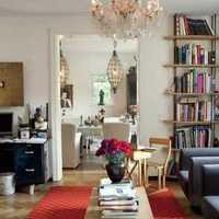 奢华简欧客厅整体布局装修效果图