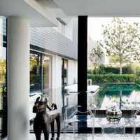 现代欧式私人别墅庭院整体装修效果图