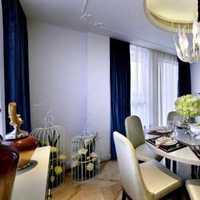 现代简约别墅奢华灰色餐桌装修效果图