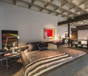 简约公寓房间卧房家具效果图