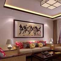 沙發吊燈茶幾混搭客廳特色電視背景墻效果圖