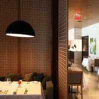 奢华餐厅吊灯装修效果图