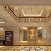 现代别墅叶状地毯装修效果图