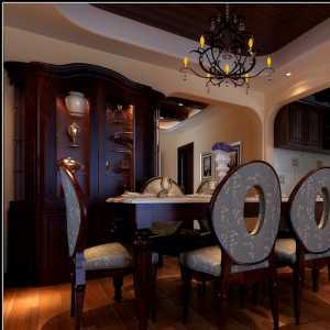 美式風格三居室20萬以上背景墻裝修圖片