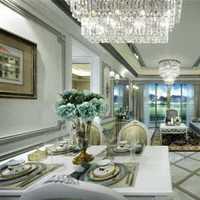 素白新古典别墅家庭餐厅装修效果图