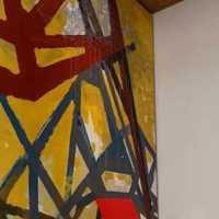 书房地中海二居客厅背景墙装修效果图